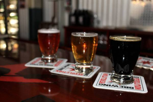 Rosa (Hibiscus Ale), A Little Crazy (Belgian Pale Ale), Black Power (Stout, baby)